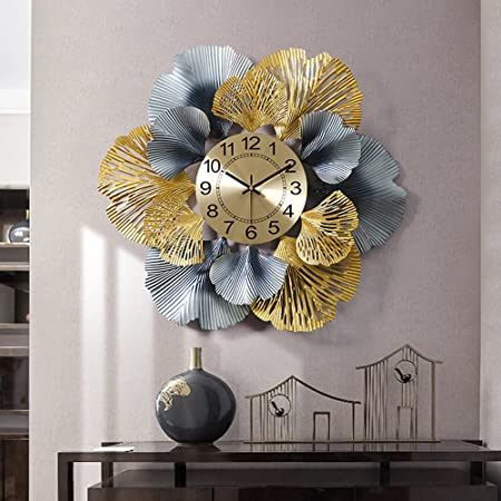 GULLI BULLI D002 Stylish Iron Wall Clock for Living, Bed Room, Home Decor Art and Hanging Decorative Showpiece (24 Inches x 24 Inches x 3 Inches)