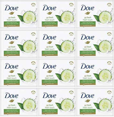 Dove - Barras de jabón Fresh Touch - aroma de pepino y...