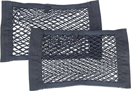 Lescars Gepäcknetz: 2er-Set Universal Aufbewahrungsnetz, 25 x 40 cm, elastisch (Gepäcknetz elastisch)
