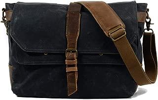 Mens Bag School and Work Men's Messenger Shoulder Bag Vintage Canvas Briefcase Crossbody Day Bag High capacity