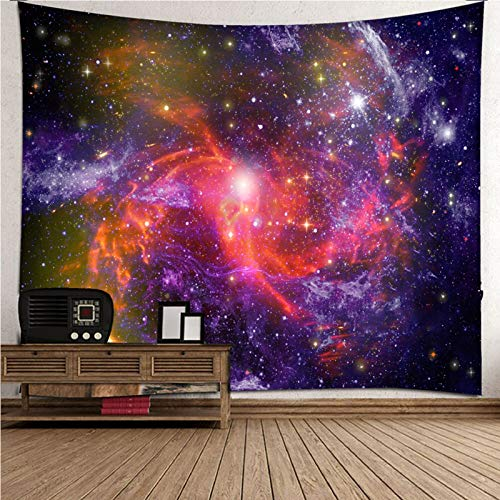 Beydodo Tapiz Decoracion Cielo Estrellado Púrpura Rojo,Tapiz de Tela para Pared Poliéster Talla 210X140CM