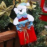 GRASARY 1 bolsa de tela para caramelos, llamativa, para colgar en el árbol de Navidad, bolsa de caramelos, resistente al desgaste, bolsa de regalo para casa, fiesta de Navidad