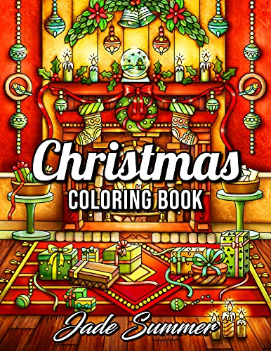 Christmas Coloring Book: An Adult Coloring Book with Fun, Easy, and Relaxing Designs (Christmas Coloring Books)