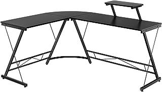 Yaheetech Hoekbureau schrijftafel computertafel bureautafel hout 112x50x82cm zwart