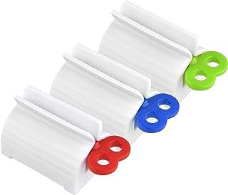 Exprimidor de Tubo Pasta,3 Pack Apretadores de Tubos Rodando Tubo de Exprimidor de Pasta Dientes Dispensador de Pasta de Dientes para el Baño para Pasta de Dientes Pintar Cabello Colorante Crema Manos