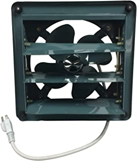Professional Grade Products 9800515 Metal Shutter Exhaust Fan for Garage Shed Pole Barn Hydroponic Ventilation, 16
