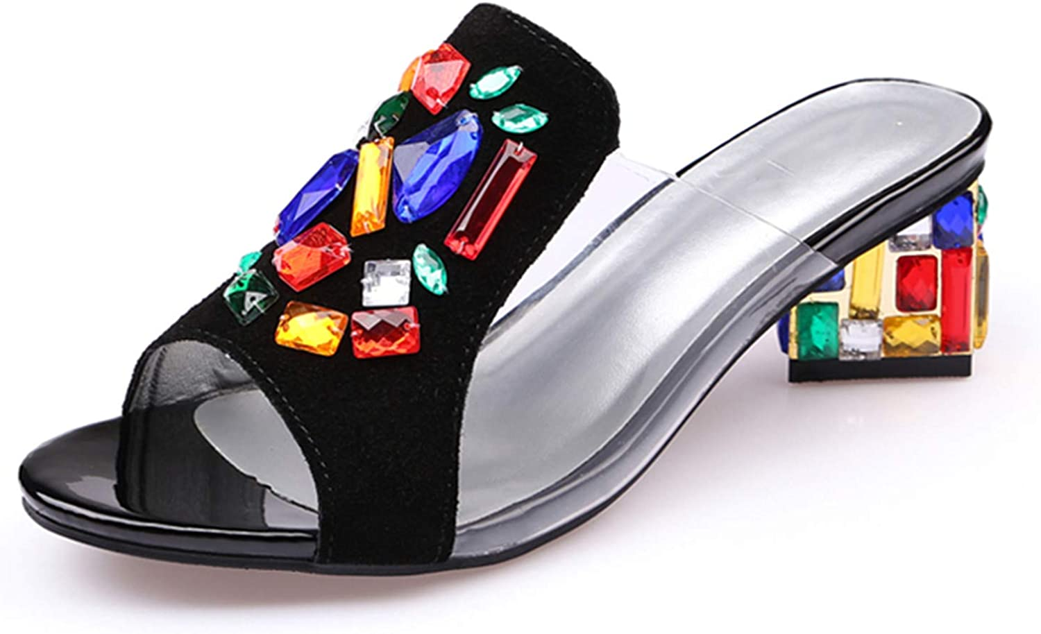 Women High Heels Rhinestone Genuine Leather Cow Suede Sandals Party shoes Fashion Ladies
