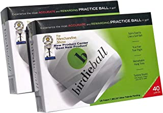 BirdieBall Practice Golf Balls, Full Swing Limited Flight Golf Practice Balls, Perfect Training Aid for All Golfers Dozen - Two Pack