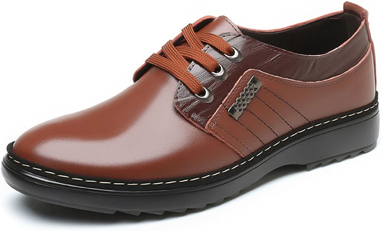 GBY Herren Casual Business Schuhe Matte Echtes Leder Upper Lace Up Atmungsaktiv Gefütterte Oxfords Kleid Schuhe  | Günstigen Preis