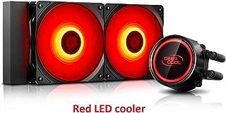 DEEP COOL GAMMAXX L240T Refrigeración Líquida para CPU, LED Rojo, 2 * 120mm Ventiladores,Equipada Sistema de Anti-Fugas, Compatible con AM4, Garantía de 3 Años
