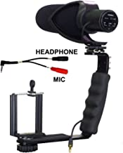 ALZO Smartphone Streaming Video Rig with COMICA CVM-V30 Shotgun Microphone and Breakout Cord