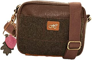 Country Classic Collection Schultertasche aus Tweedwolle, dunkler Tweed