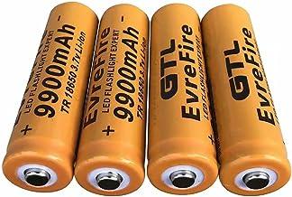 4 stuks 18650 oplaadbare batterijen AA 3,7 V 18650 9900 mAh hoge knoopcelbatterij oplaadbare Li-Ion LED zonder gevaar voor...