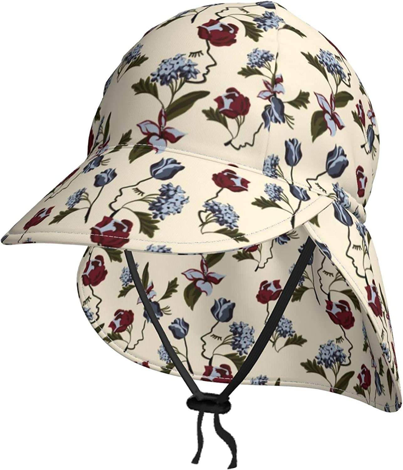Lisianthus Flower Large discharge sale Sun Hat for Beach Topics on TV Kids Protection Baby Boy