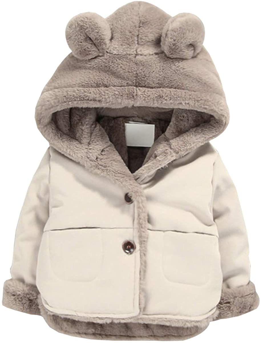 Toddler Fleece Jacket, Warm Cotton Baby Winter Coats, Kids Hooded Outerwear for Boys Girls …: Clothing, Shoes & Jewelry