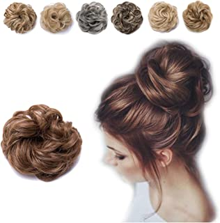 Hair Bun Extension with Elatsic Drawstring Claw Comb Ponytail Messy Chignon Updo Ponytail Scrunchie Donut Hairpiece
