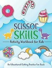 Scissor Skills Activity Workbook For kids: Cute Toddlers Scissors Activities Learning Practice Boys 3-6 – Cut & Paste Craf...