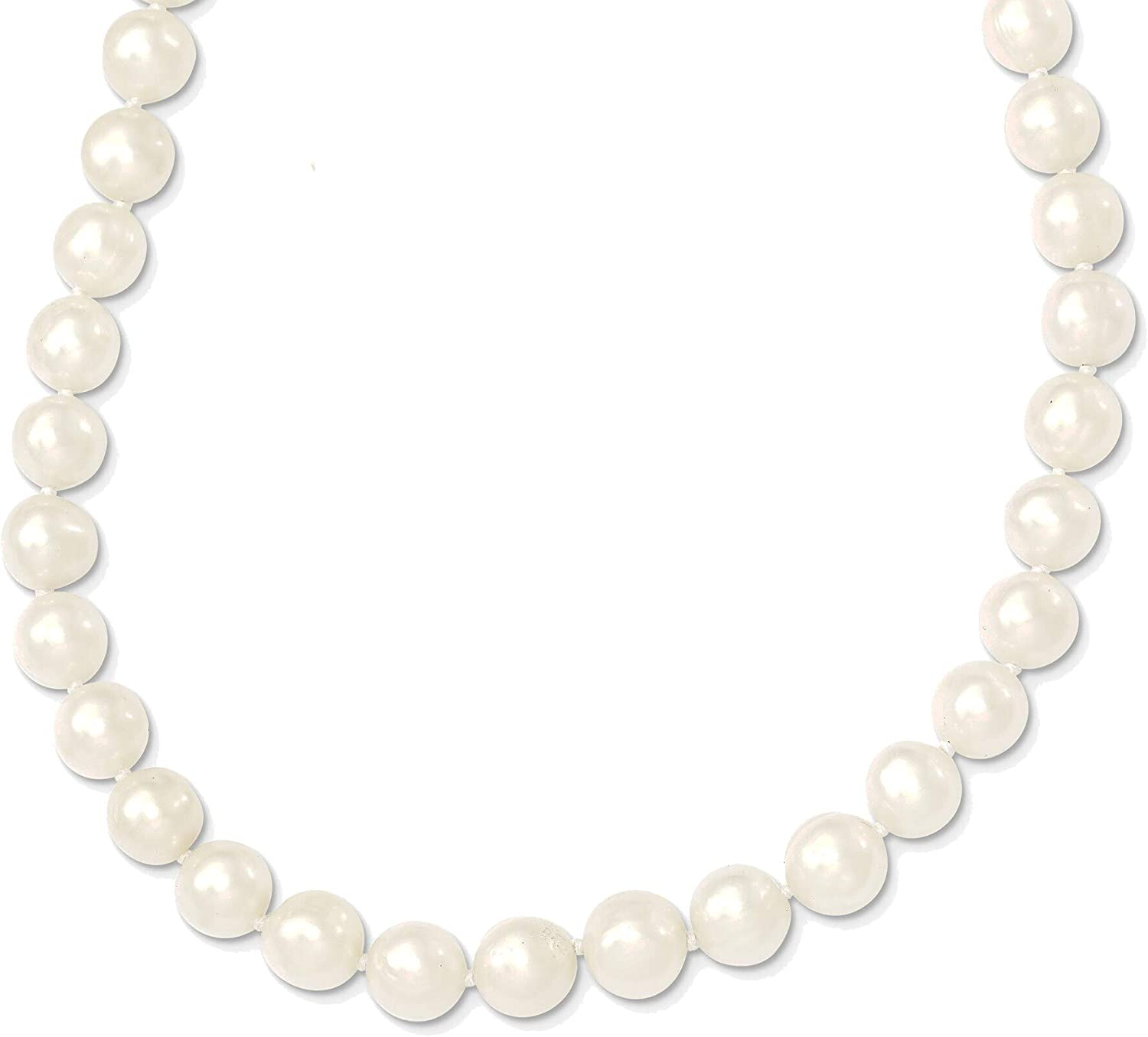 Bonyak outlet Jewelry 7.5-9mm White Cultured Pearl online shop Freshwater Graduated