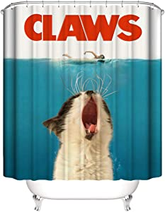 "A&S Creavention Bathroom Custom Cat Design Shower Curtain 70"" x 70"" Standard Size, 1pc (Claws)"