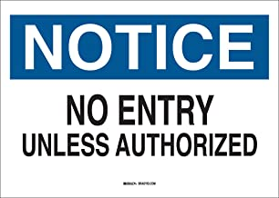 no unauthorized entry