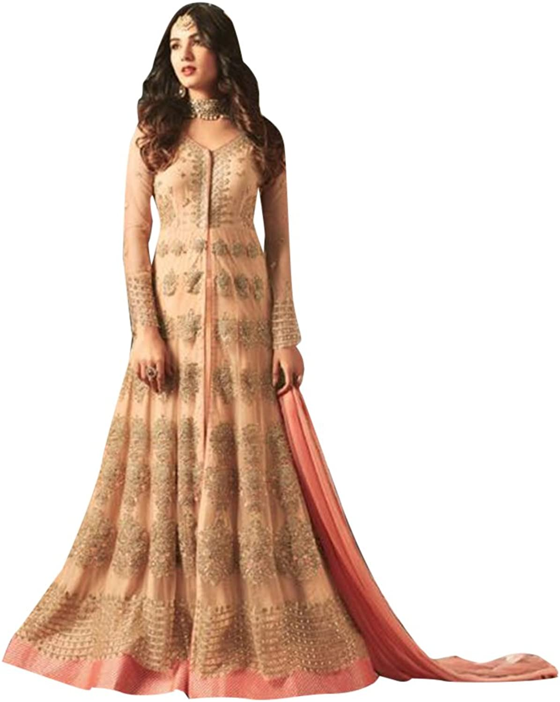 Bollywood Collection Pakistani Anarkali Salwar Suit Bridal Wedding Ceremony Punjabi Muslin Eid 824 7