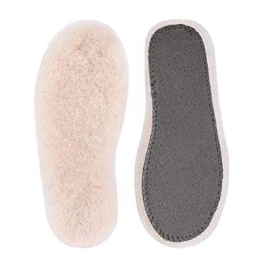 Winter Sheepskin for Men & Women & Childrens – Acdyion Warm Cozy & Fluffy Premium Thick Natural Wool Insoles for All Shoes