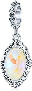 S925 Sterling Silver Fiting Bransoletka Czysta Magiczne Lustro Rocznicowe Wisiorek Koraliki Nadaje Się Do Diy Biżuteria Da...