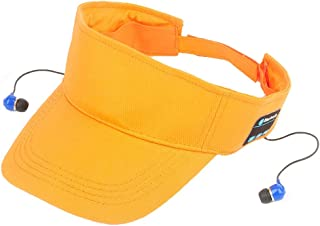 GLJJQMY Fashion Sunshade Wireless Bluetooth Cap Easy to Remove and Install Bluetooth Earphone (Color : Orange)