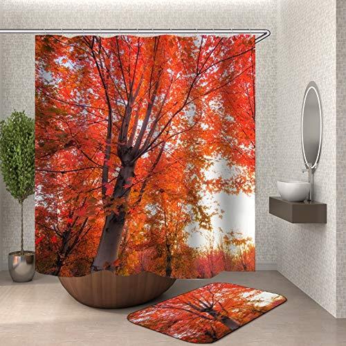 Scène rideau de douche tissu 3d salle de bain rideau de douche paysage rideau de douche crochet ménage imperméable salle de bain rideau famille imperméable moisissure rideau de douche A3 180x180 cm