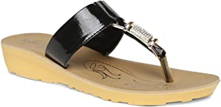 PARAGON Women's Black Fashion Sandals-4 UK/India (37 EU)(PU77010L)
