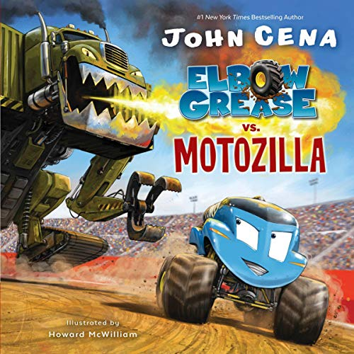 Elbow Grease vs. Motozilla audiobook cover art