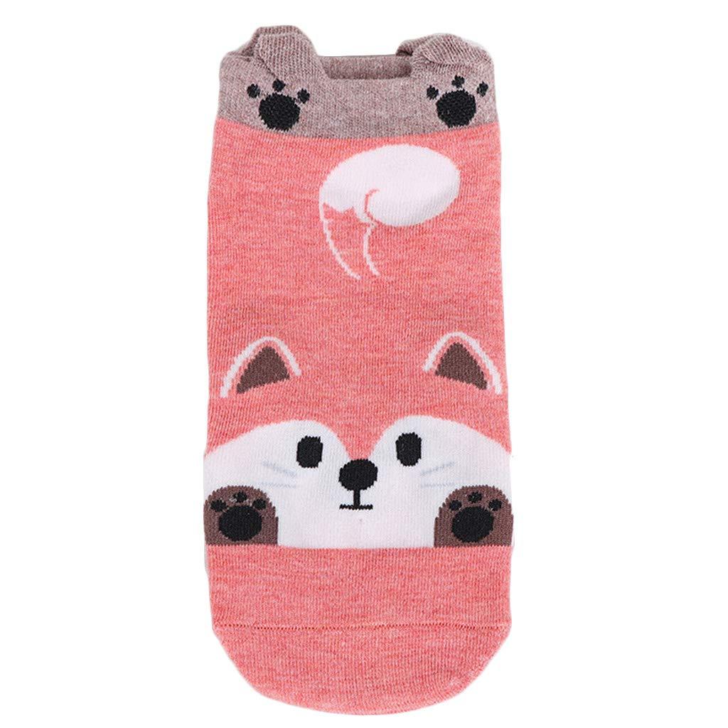 WT-BLVUVY - Calcetines de bote de algodón de corte bajo para mujer, diseño de conejo, perro, gato, panda rosa: Amazon.es: Hogar
