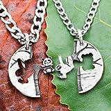 Colliers d'amitié Panda et paresseux, colliers gravés imbriqués, amis arbre suspendu, meilleur ami cadeau, bijoux animaux, pièce de monnaie coupée à la main