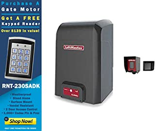 New LiftMaster CSL24U Commercial Slide Gate Operator with a Free RNT-230SADK Weatherproof Keypad Prox Reader 1000+ Users
