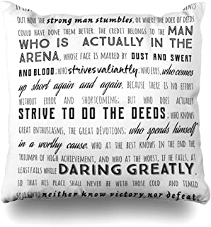 Ahawoso Decorative Throw Pillow Cover Square 16x16 Daring Day Group Canadian Jack Keepsake Greatly Roosevelt Basketball Quote Font Design Cowgirl Make Cushion Case Home Decor Zippered Pillowcase