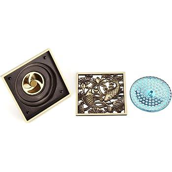 15Cm Antik Messing Quadrat Vintage Art Mesh Bodenablauf Dusche Duschabfluss Badzubeh/ör 5 Farbe 15Cm Smt031-B