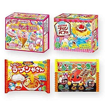Ninjapo Wrapping Kracie Japanese DIY Candy  Popin Cookin  H set  Assortment of Cake Pudding Parfait Ramen Takoyaki  total 4   total 4