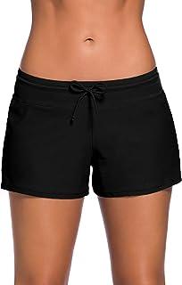 WILLBOND Women Swimsuit Shorts Tankini Swim Briefs Plus...