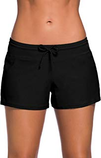 WILLBOND Women Swimsuit Shorts Tankini Swim Briefs Plus...
