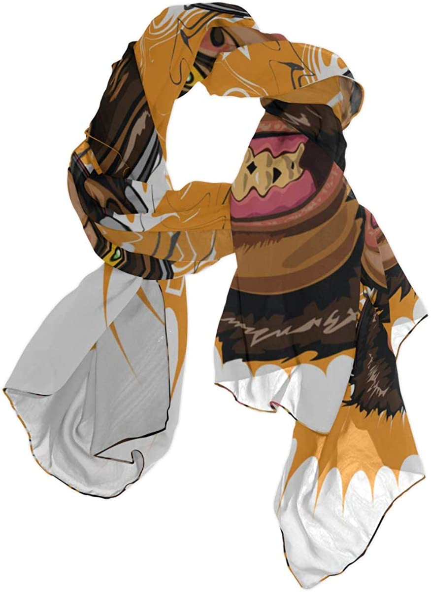 Flexible Animation Monkey Unique Fashion Scarf For Women Lightweight Fashion Fall Winter Print Scarves Shawl Wraps Gifts For Early Spring