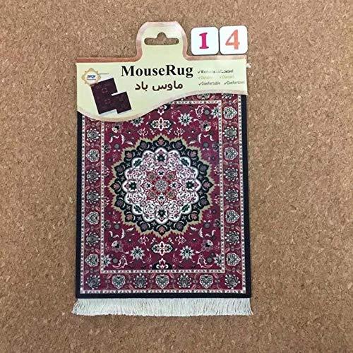 1 stks perzische mini geweven tapijt mat mousepad tapijt patroon cup muismat met fring retro stijl thuiskantoor tafel decor craft, 14