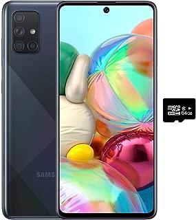 Samsung Galaxy A71 SM-A715F/DS 4G LTE 128GB + 6GB Ram Octa Core (LTE USA Latin Caribbean Euro) w/Four Cameras (64+12+5+5mp) Android (Black)