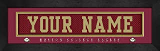 NCAA Jersey Stitch Print Boston College Eagles Personalized Framed