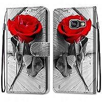 Laybomo Samsung Galaxy A3 (2016) A310F ケース カバー 手帳型, [カードスロット]および[キックスタンド]付きの磁気閉鎖完全保護設計ウォレットフリップ 財布型カバー対応 Galaxy A3 (2016) A310F電話ケース, 塗る 4