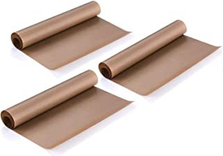 3 Pack PTFE Teflon Sheet 16 x 20 For Heat Press Transfer Sheet, Non Stick Heat Resistant Craft Mat, Vinyl Sheets for Sewing Ironing Clothes Protector, Paints, Crafting, Bakery, Barbecue grill mat, etc