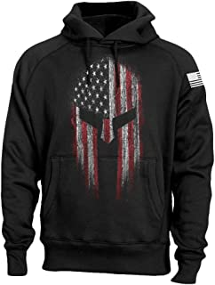 USA Flag American Spartan Patriotic Men's Sweatshirt Hoodie