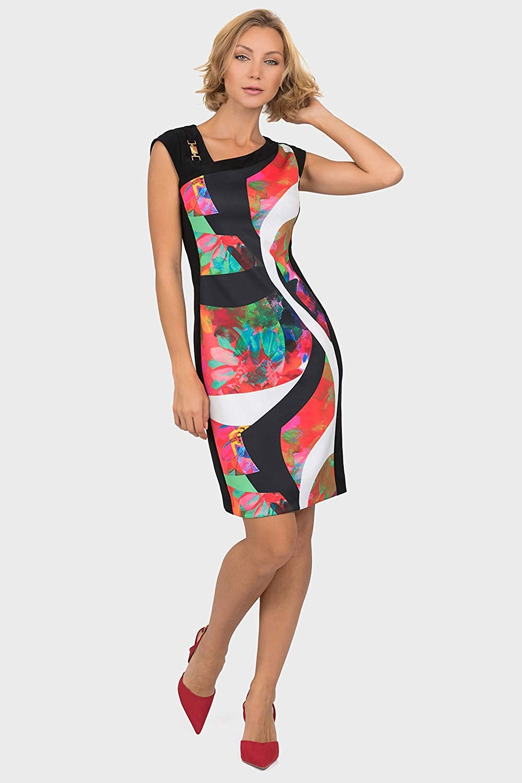 Joseph Ribkoff Black Multi Dress Style 191721