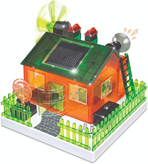 WeGetDone Kid Genio Build Your Own Solar Eco Home Kit for Science Project - Craft for Kids Toys for 8+
