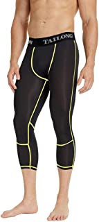TAILONG Quick Dry Compression Leggings Exercise Pants for Men Running Workout Tights Athletic Clothes