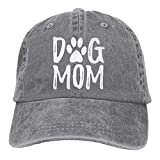 Unisex Dog Mom Vintage Jeans Adjustable Baseball Cap Cotton Denim Dad Hat